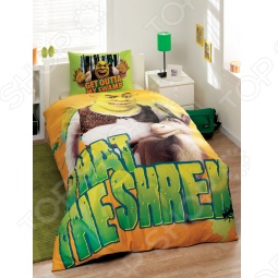 фото Комплект постельного белья TAC Shrek Puss In Boots, Детские комплекты постельного белья