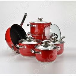 фото Набор посуды Mayer Boch. Цвет: зеленый, Наборы посуды для готовки