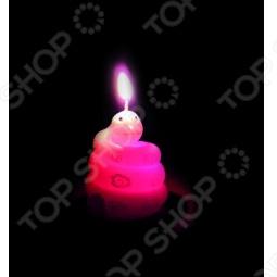 фото Свеча новогодняя с led Снегурочка «Змея-Шар», Свечи. Подсвечники