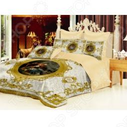 фото Комплект постельного белья Барокко. 1,5-спальный, белый, купить, цена