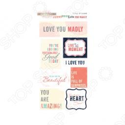 фото Набор стикеров Glitz Design Title Love You Madly, купить, цена