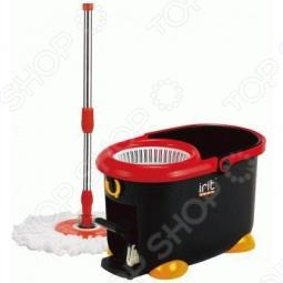фото Набор для влажной уборки: швабра-моп и ведро пластиковое Irit Irl-02, Швабры и щетки