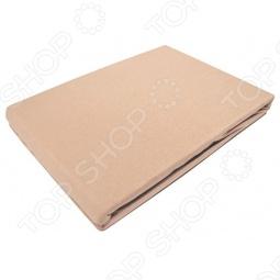 фото Простыня на резинке трикотажная ЭГО. Цвет: коричневый. Размер простыни: 200х200 см, Простыни
