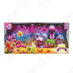 фото Набор из 2-х пони-русалочек с аксессуарами 1 Toy Т56607, Игровые наборы для девочек