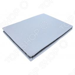 фото Простыня на резинке трикотажная ЭГО. Цвет: голубой. Размер простыни: 200х200 см, Простыни