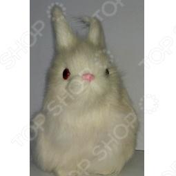 фото Сувенир из меха «Заяц сидящий» R1832Wk, Чучела животных. Сувениры из меха