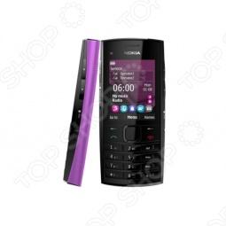 фото Мобильный телефон Nokia X 2-02 Violet, Мобильные телефоны с 2-я sim-картами