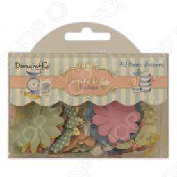 фото Набор цветочков бумажных Trimcraft Кондитерская Dcbl009, купить, цена