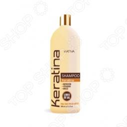 фото Шампунь укрепляющий с кератином для всех типов волос Kativa. Объем: 500 мл, Шампуни