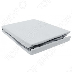 фото Простыня на резинке трикотажная ЭГО. Цвет: серый. Размер простыни: 90х200 см, Простыни