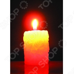 фото Свеча новогодняя с led Снегурочка «Розочки», Свечи. Подсвечники