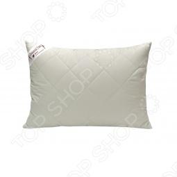 фото Подушка стеганная на козьем пуху Домашний уют. Размер: 68х68, Классические подушки
