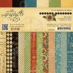фото Набор бумаги Graphic45 Patterns & Solids French Country, купить, цена