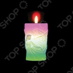 фото Свеча новогодняя с led Снегурочка «Ангелы», Свечи. Подсвечники
