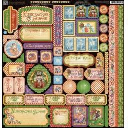 фото Набор стикеров Graphic45 Nutcracker Sweet, купить, цена