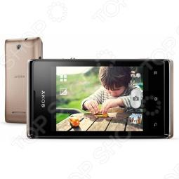 фото Смартфон Sony C1605 Xperia E Dual Champagne, Смартфоны