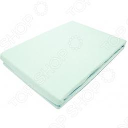 фото Простыня на резинке трикотажная ЭГО. Цвет: бирюзовый. Размер простыни: 90х200 см, Простыни
