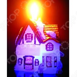 фото Свеча новогодняя с led Снегурочка «Домик», Свечи. Подсвечники