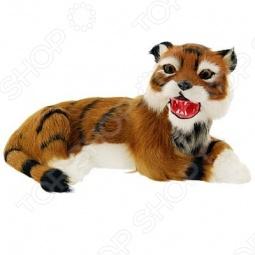 фото Сувенир из меха «Тигр лежащий» T2021Ck, Чучела животных. Сувениры из меха
