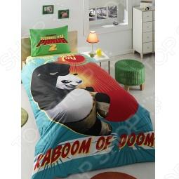 фото Комплект постельного белья TAC Kung Fu Panda Kick Splosion, купить, цена