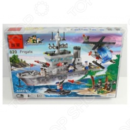 фото Конструктор Enlighten Р49133 Военный Корабль, Военная техника. Корабли