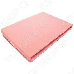 фото Простыня на резинке трикотажная ЭГО. Цвет: розовый. Размер простыни: 90х200 см, Простыни