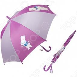 Зонт-трость полуавтомат детский Талисманы. Цвет: розовый