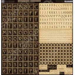 фото Набор стикеров Graphic45 Place In Time Alphabet, купить, цена