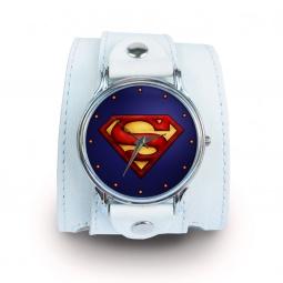 """Часы """"Supermen"""", дизайнерский ремешок"""