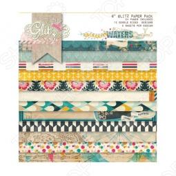 фото Набор бумаги Glitz Design Uncharted Waters, купить, цена