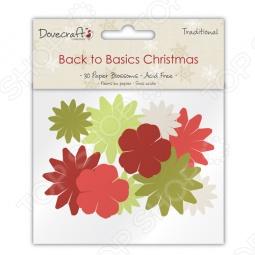 фото Набор цветочков бумажных Trimcraft Новогодние Традиции, купить, цена