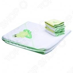фото Полотенце с капюшоном и 4 салфетки Spasilk «Лягушка», Полотенца. Салфетки для купания