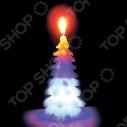 фото Свеча новогодняя с led Снегурочка «Ёлка», Свечи. Подсвечники