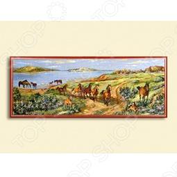 фото Картина «Лошади на просторе», Картины. Панно