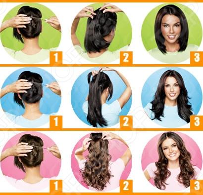Как накладывать волосы на заколках