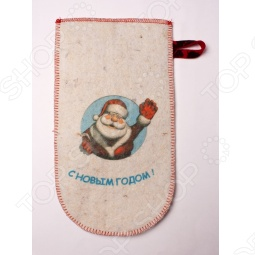 фото Рукавица для бани «Дед Мороз», Рукавицы банные