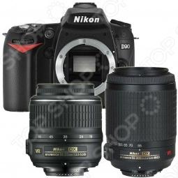 фото Фотокамера цифровая Nikon D90 18-55Vr / 55-200Vr, Зеркальные фотоаппараты