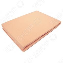 фото Простыня на резинке трикотажная ЭГО. Цвет: оранжевый. Размер простыни: 200х200 см, Простыни