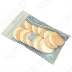фото Спонжи для макияжа круглые Basicare, 20 штук, Прочие товары для ухода за кожей лица и тела