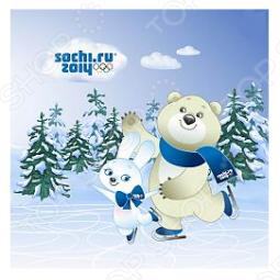 фото Подушка декоративная TAC Зайка И Белый Мишка «Талисман Сочи 2014», Декоративные подушки