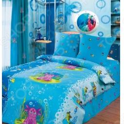 фото Комплект постельного белья «Подводный мир». Детский, Детские комплекты постельного белья