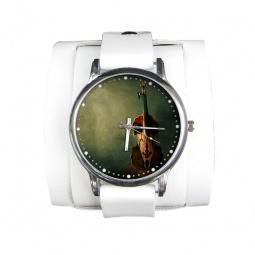 """Часы """"Скрипка"""", дизайнерский ремешок"""