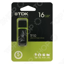 фото Флешка TDK Tf10 Black 16Gb 2.0 Usb Flash Drive, Флешки