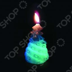 фото Свеча новогодняя с led Снегурочка «Змея На Ёлке», Свечи. Подсвечники