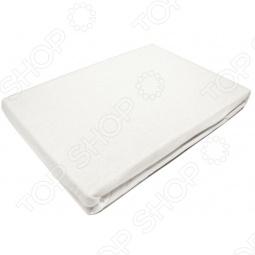 фото Простыня на резинке трикотажная ЭГО. Цвет: белый. Размер простыни: 90х200 см, Простыни