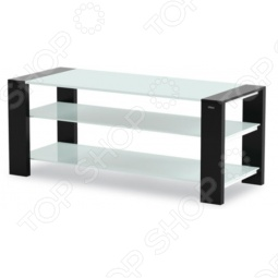 фото Тумба под телевизор Holder Tv-27120-V Черный, Белое Стекло, Тумбы под телевизор