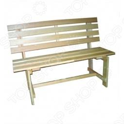 фото Скамейка для бани и сауны Банные Штучки Со Спинкой, Лавочки, скамейки, шезлонги для бани