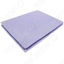 фото Простыня на резинке трикотажная ЭГО. Цвет: фиолетовый. Размер простыни: 200х200 см, Простыни