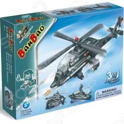 фото Конструктор Banbao 3 В 1: Вертолет, Танк, Корабль, 295 Деталей, Авиация