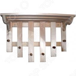 фото Полка с вешалкой Банные Штучки 6 Рожков, Деревянные вешалки, полки, дверные ручки